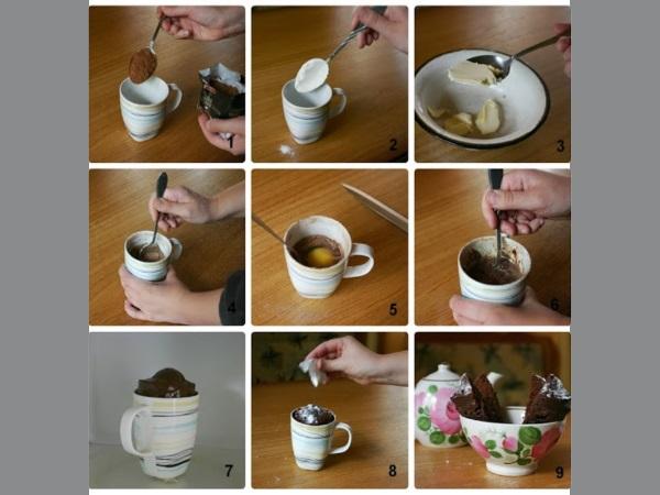 Спустя 3 минуты проверьте готовность кекса, воткнув в него зубочистку: если на ней осталось тесто, значит, он пока не готов.