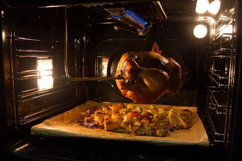 как в духовке приготовить курицу гриль на вертеле в духовке